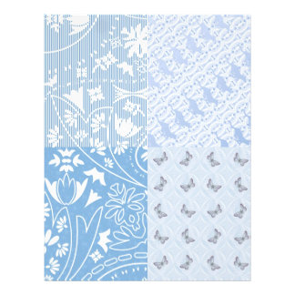 Doublesided paper Pastel blue butterflies/cats