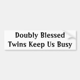 Doubly Blessed Car Bumper Sticker