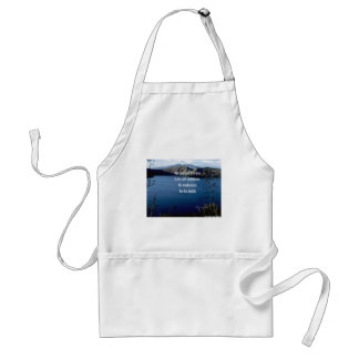 Doubt and self confidence adult apron