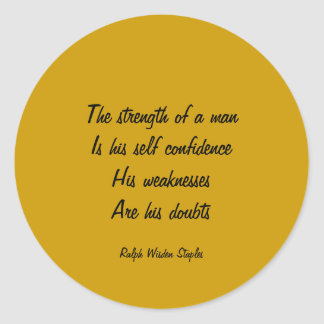 Doubt and self confidence classic round sticker