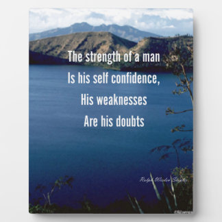 Doubt and self confidence plaque