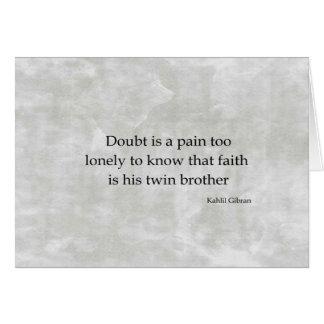 Doubt Card
