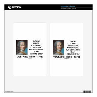 Doubt Not Pleasant Condition Certainty Voltaire Skin For Kindle Fire