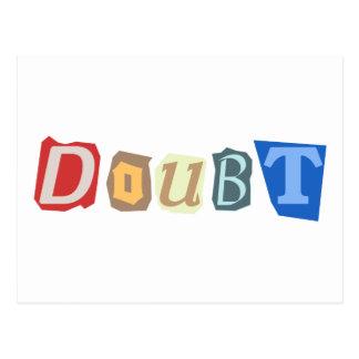 Doubt Postcard