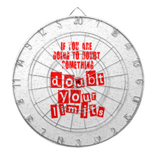 Doubt Your Limits Dartboards