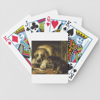 Doubtful Crumbs by Edwin Henry Landseer Bicycle Playing Cards