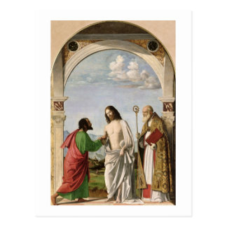 Doubting Thomas with St. Magnus, c.1504-05 Postcard