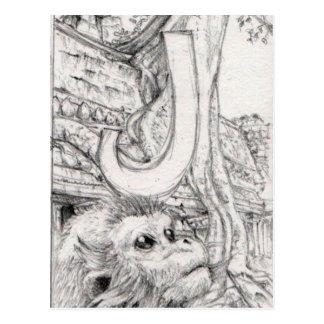 Douc Langur Monkey in Angor Wat Postcard