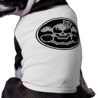 doudoune for dog skullhead pet tee
