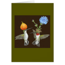 Doug and Cheryl hummingbird card
