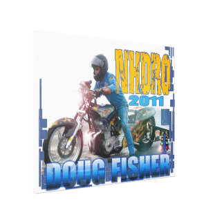 Doug Fisher NHDRO motorcycle drag racing Canvas Stretched Canvas Prints