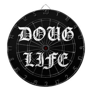Doug Life (white) Dartboard With Darts
