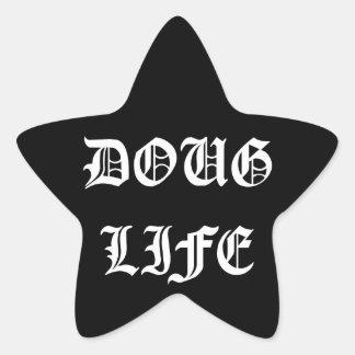 Doug Life (white) Star Sticker