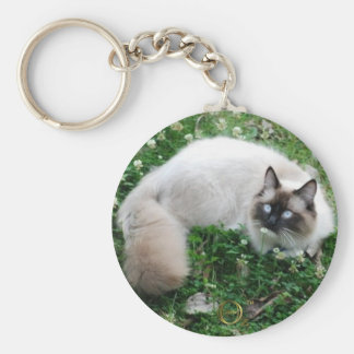 Dougal Amongst the Clover Basic Round Button Keychain