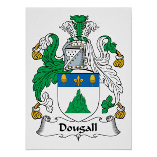 Dougall Family Crest Posters
