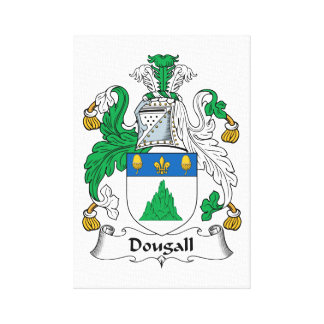 Dougall Family Crest Stretched Canvas Print