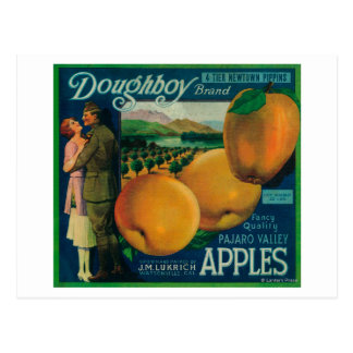Doughboy Apple Crate LabelWatsonville, CA Postcard