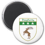 Dougherty Coat of Arms/Family Crest 2 Inch Round Magnet