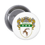 Dougherty Coat of Arms (Mantled) 2 Inch Round Button
