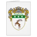 Dougherty Coat of Arms (Mantled) Greeting Card