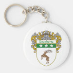 Dougherty Coat of Arms (Mantled) Basic Round Button Keychain