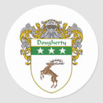 Dougherty Coat of Arms (Mantled) Classic Round Sticker
