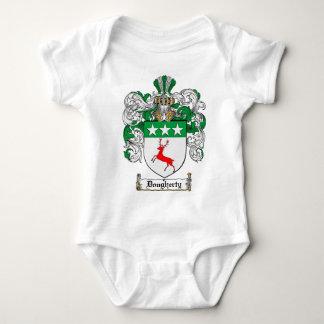 DOUGHERTY FAMILY CREST -  DOUGHERTY COAT OF ARMS BABY BODYSUIT