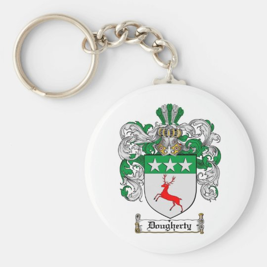 DOUGHERTY FAMILY CREST -  DOUGHERTY COAT OF ARMS KEYCHAIN