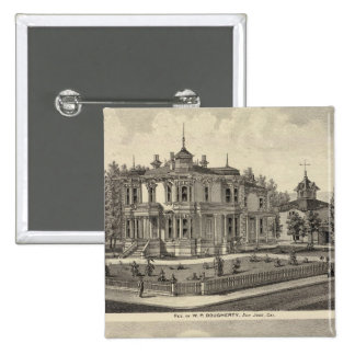 Dougherty, Murphy residences 2 Inch Square Button