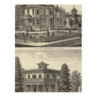 Dougherty, Murphy residences Post Card