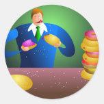 Doughnut Dave Round Sticker