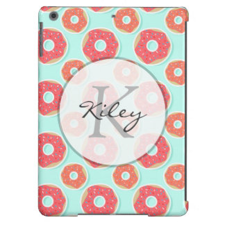 Doughnut Donut Pattern, Pink and Blue Case For iPad Air