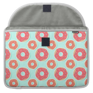 Doughnut Donut Pattern, Pink and Blue Sleeve For MacBook Pro
