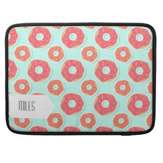 Doughnut Donut Pattern, Pink and Blue Sleeve For MacBooks