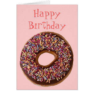 Doughnut Happy Birthday Greeting Card