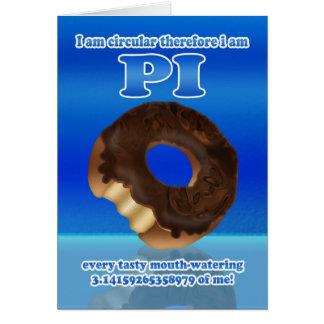 Doughnut Pi Day 3.14 March 14th Greeting Card