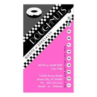 doughnut punchcard : (buy 11 get 1 free) Double-Sided standard business cards (Pack of 100)