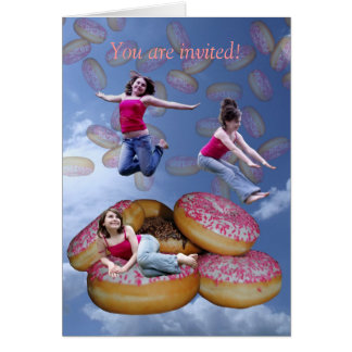 doughnut rain -, You are invited! Card