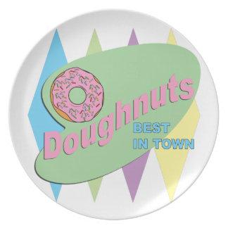 doughnut shop dinner plate