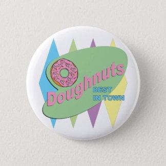 doughnut shop pinback button