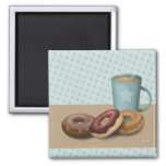 Doughnuts and coffee magnet