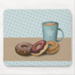 Doughnuts and coffee mousepad
