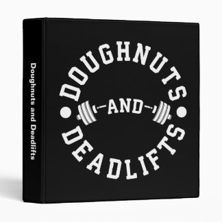 Doughnuts and Deadlifts - Carbs - Funny Workout Binder