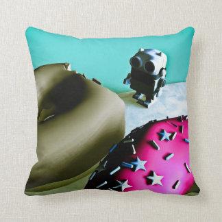 Doughnuts and Toy Robot 02 American MoJo Pillows