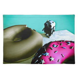 Doughnuts and Toy Robot 02 American MoJo Placemats