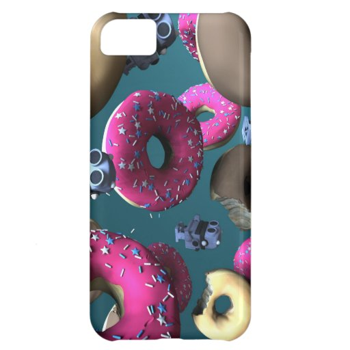 Doughnuts and Toy Robot 03 Case For iPhone 5C