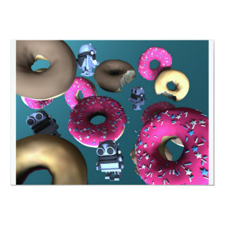 Doughnuts and Toy Robot 03 Invitation