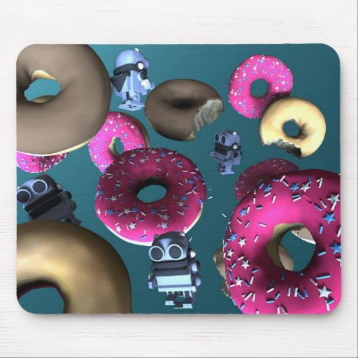 Doughnuts and Toy Robot 03 Mousepad