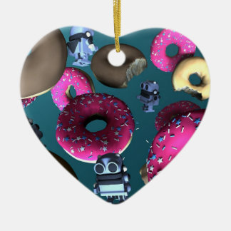 Doughnuts and Toy Robot 03 Ornament