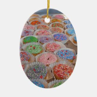 Doughnuts! Ceramic Ornament